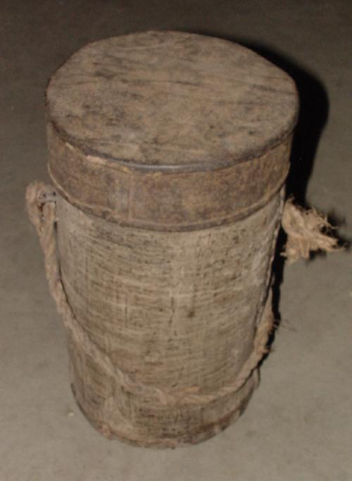 #143 - Palm oil container, Cameroon.