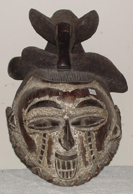 #41 - Mask with Bird and Snake, Cameroon.
