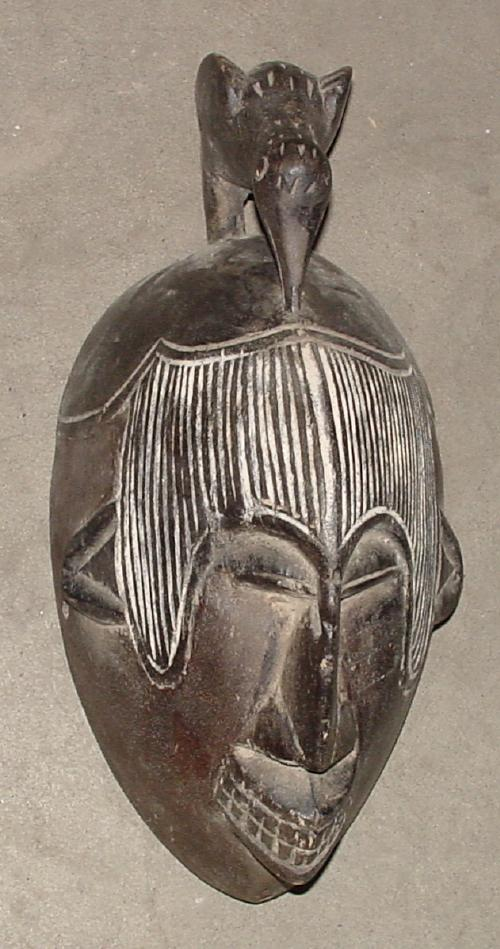 #448 - Mask with Bird, Cameroon.