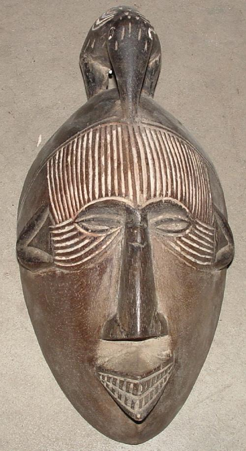 #449 - Mask with Bird, Cameroon.
